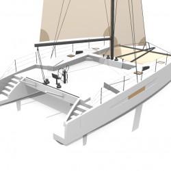 Catamaran Day Charter DAY1 50 vue arriere 1