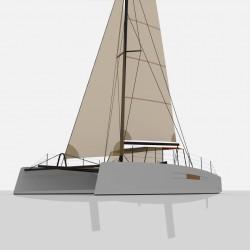 Catamaran Day Charter DAY1 50 vue avant 3