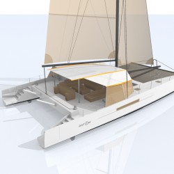 Catamaran Day Charter DAY1 70 vue arriere 1