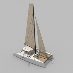 Catamaran Day Charter DAY1 50 vue avant 2