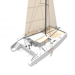 Catamaran Day Charter DAY1 50 vue arriere 4