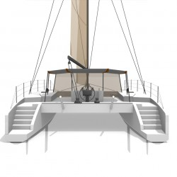 Catamaran Day Charter DAY1 50 vue arriere 3