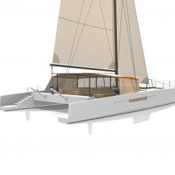 Catamaran Day Charter DAY1 70 vue arriere 3